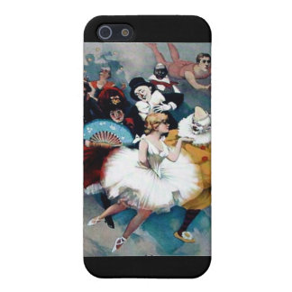 Circus vintage poster ballerina dogs trapez case for iPhone SE/5/5s
