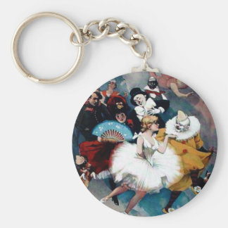 Circus vintage poster ballerina dogs trapez keychains