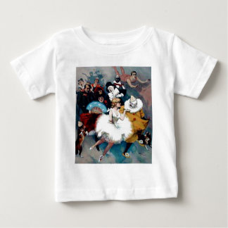 Circus vintage poster ballerina dogs trapez shirt
