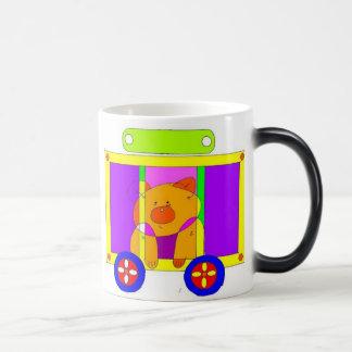 circus wagon  11 oz magic heat Color-Changing coffee mug