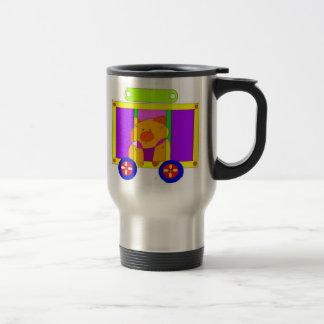 circus wagon  15 oz stainless steel travel mug