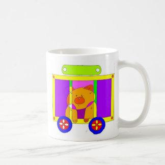 circus wagon  classic white coffee mug