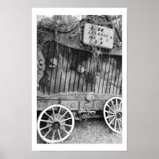 Circus Wagon Poster