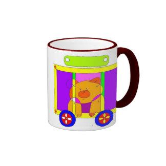 circus wagon  ringer coffee mug