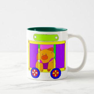circus wagon  Two-Tone coffee mug