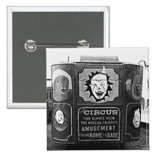 Circus Wagon Vintage 1937 Montana Photo Pinback Button
