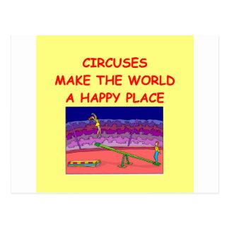 circuses postcard
