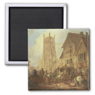 Cirencester Market Place, with the Abbey and the K 2 Inch Square Magnet