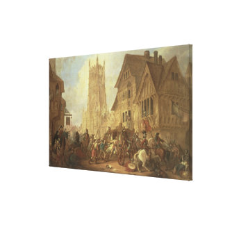 Cirencester Market Place, with the Abbey and the K Canvas Print