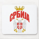 Cirílico de Serbia Alfombrillas De Ratones