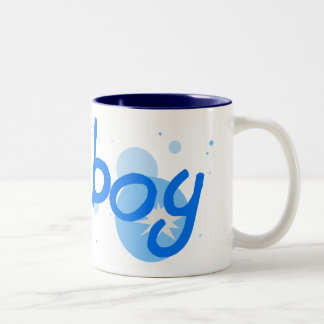 Cirlce Burst Two-Tone Coffee Mug