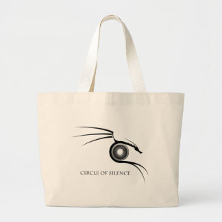 Cirlce of Silence Graphic - Dark Canvas Bags