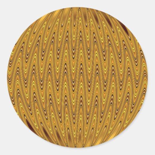 cirlcle gold classic round sticker