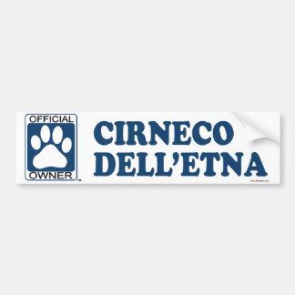 Cirneco Dell&Apos; Azul del Etna Etiqueta De Parachoque