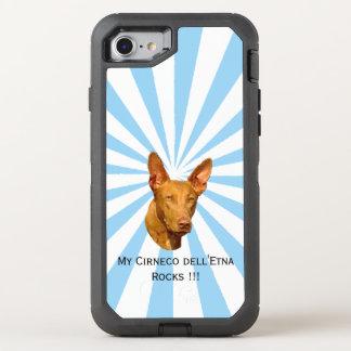 Cirneco dell'Etna on white starburst OtterBox Defender iPhone 8/7 Case