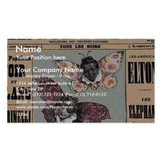 Cirque D'Hiver - Les Papillons Noir Et Blanc Double-Sided Standard Business Cards (Pack Of 100)