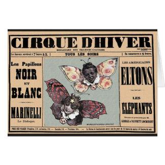 Cirque D'Hiver - Les Papillons Noir Et Blanc Greeting Card