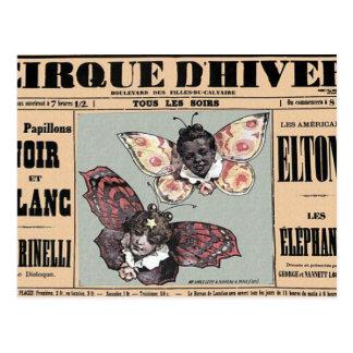 Cirque D'Hiver - Les Papillons Noir Et Blanc Postcard
