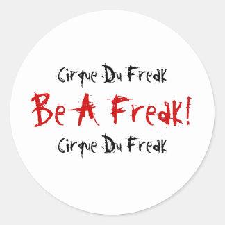 ¡Cirque Du Freak, sea monstruo! , Cirque Du Freak Pegatina Redonda