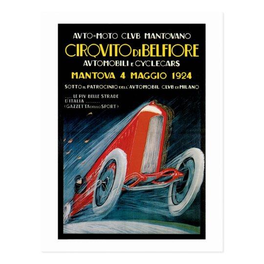 Cirquito et Delefiore Auto Moto Club Montovano Postcard