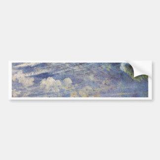 Cirro estudio de las nubes de cirro por John Con Pegatina De Parachoque