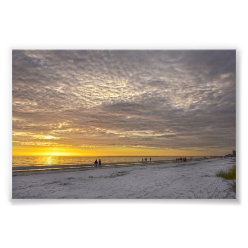 Cirrocumulus Clouds at Fort Myers Beach Sunset Photo Print