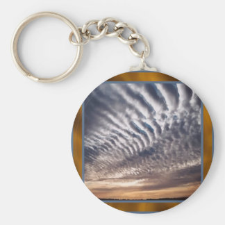 Cirrocumulus Clouds Keychain