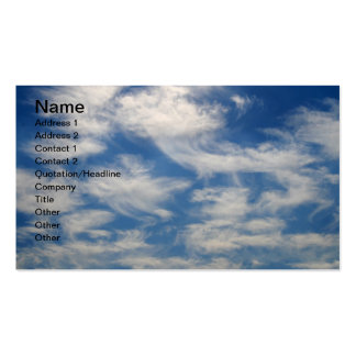 Cirrus Clouds like Angels flying Business Card