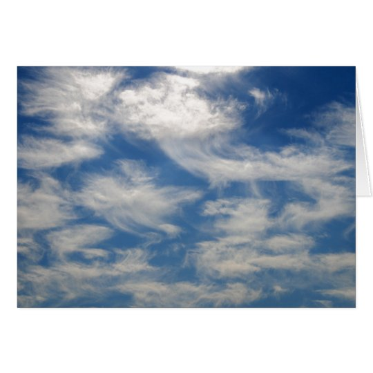 Cirrus Clouds like Angels flying Card