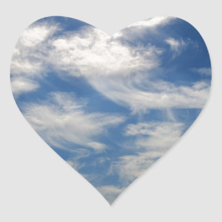 Cirrus Clouds like Angels flying Heart Sticker