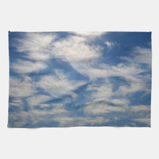 Cirrus Clouds like Angels flying Kitchen Towel
