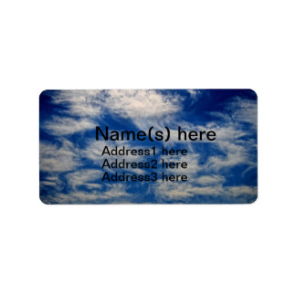 Cirrus Clouds like Angels flying Label