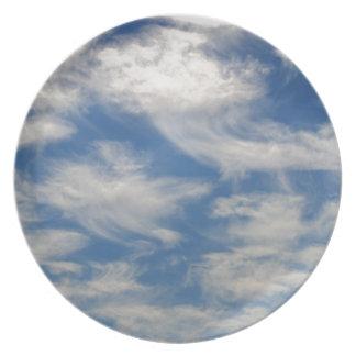 Cirrus Clouds like Angels flying Melamine Plate