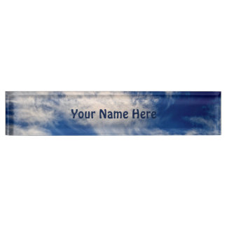 Cirrus Clouds like Angels flying Personalized Name Plate
