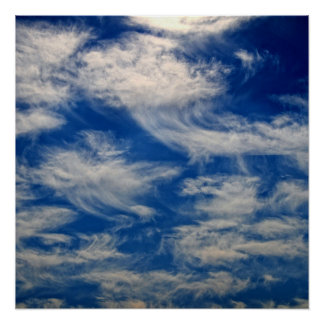 Cirrus Clouds like Angels flying Poster