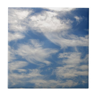 Cirrus Clouds like Angels flying Tile