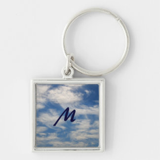 Cirrus Clouds like Angels flying w/Monogram Keychain