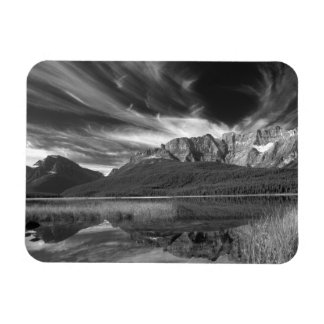 Cirrus clouds over Waterfowl Lake, Banff Magnet