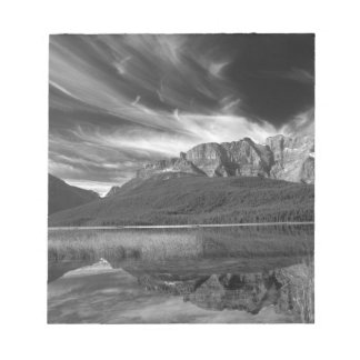 Cirrus clouds over Waterfowl Lake, Banff Notepad
