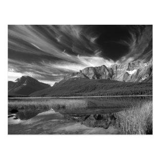 Cirrus clouds over Waterfowl Lake, Banff Postcard
