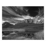 Cirrus clouds over Waterfowl Lake, Banff Print
