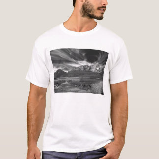 Cirrus clouds over Waterfowl Lake, Banff T-Shirt