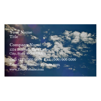 Cirrus clouds with lens flare business card