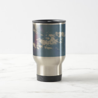 Cirrus Clouds With Lens Flare Travel Mug