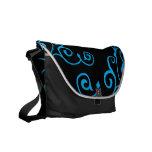 Cirrus Ebony (Cyan) Messenger Bag