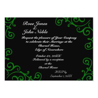 Cirrus Ebony (Green) Wedding Invitation
