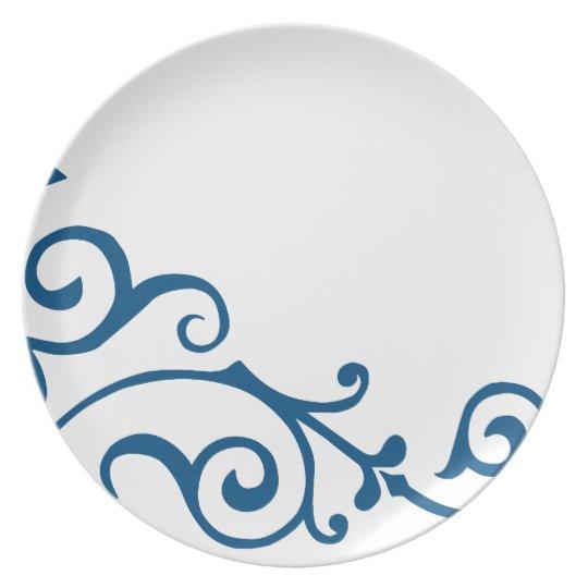 Cirrus Ivory (Blue) Plate