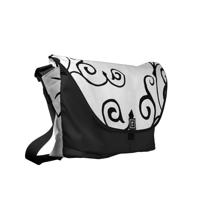 Cirrus Ivory (Charcoal) Messenger Bag