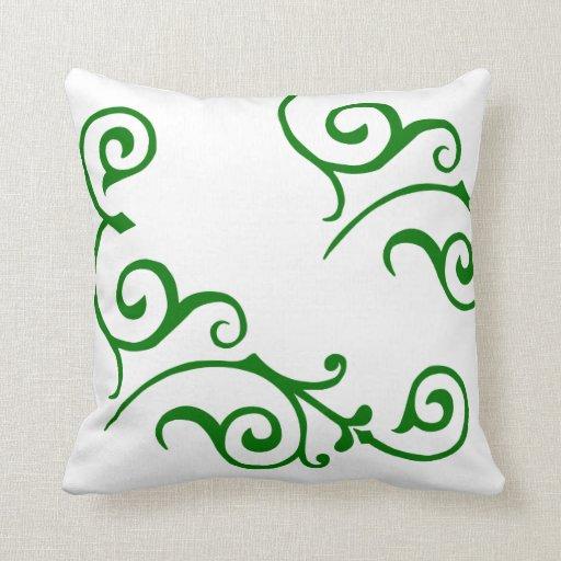 Cirrus Ivory (Green) Pillow