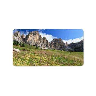 Cirspitzen Dolomites Label